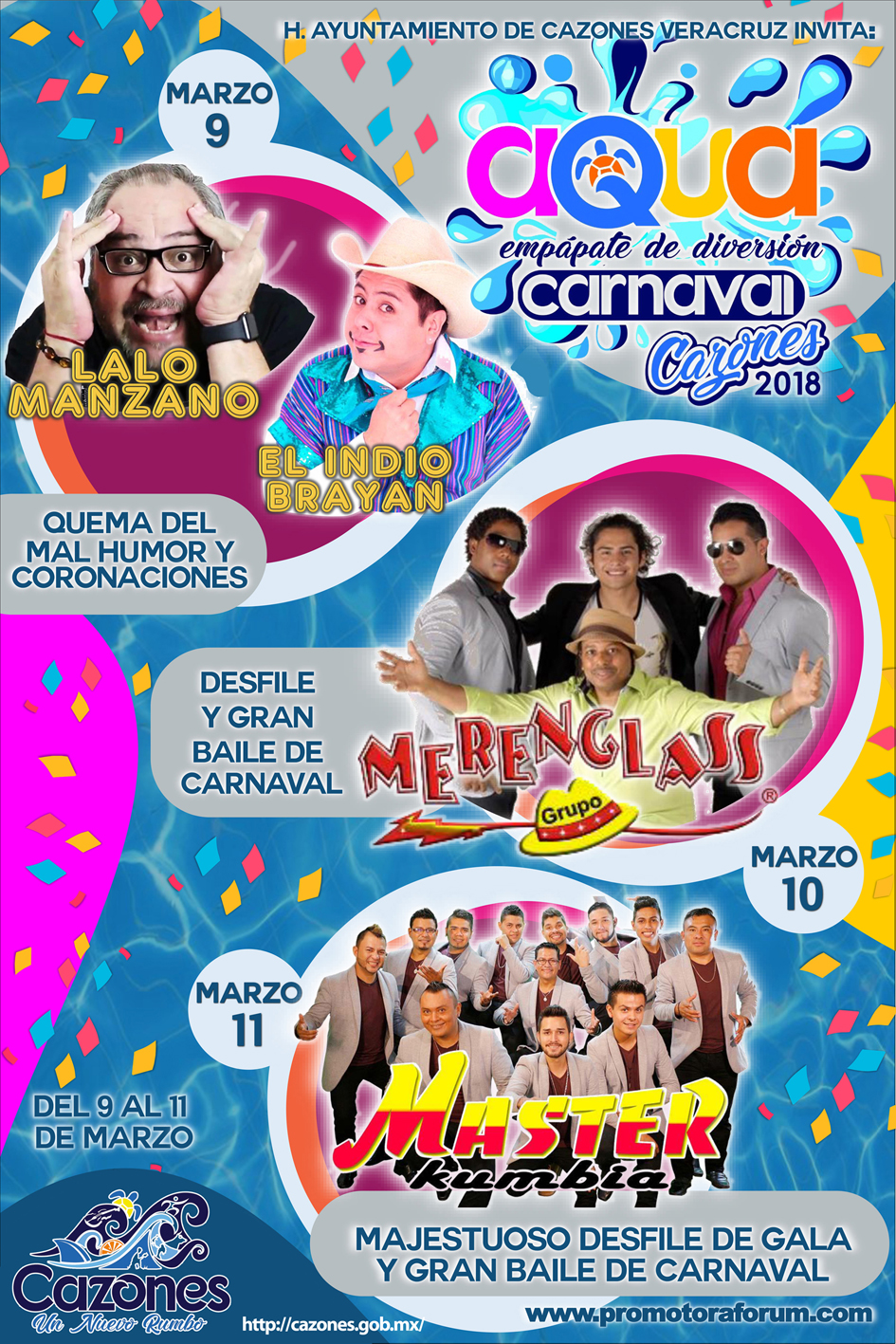 poster carnaval cazones 2018